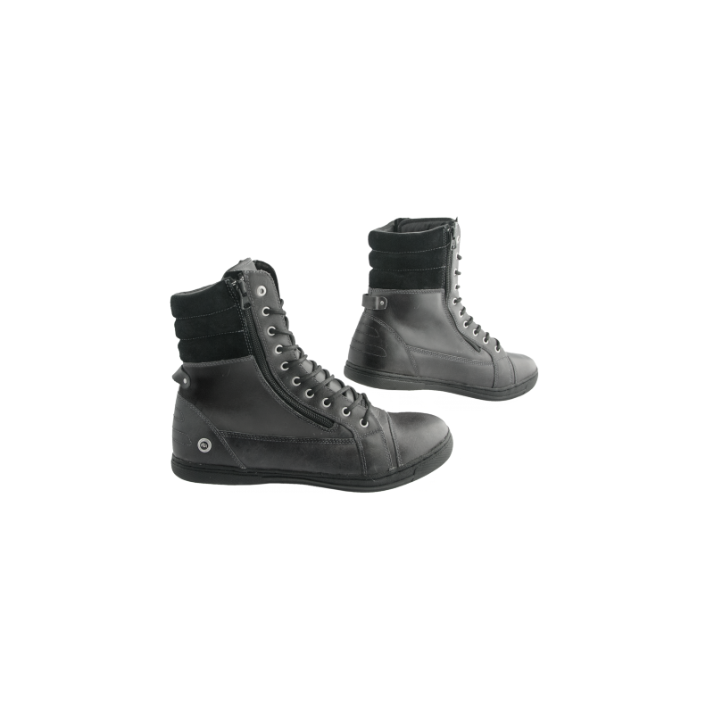 Chaussure moto homme 1964 cafe racer rugged noir