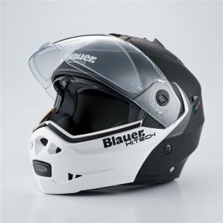 casque moto modulable blauer sky noir et blanc