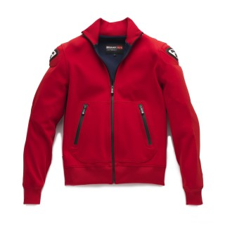Blouson moto textile blauer easy rouge