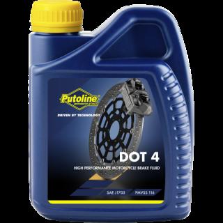 Liquide de frein DOT 4 brake fluid Putoline en bidon de 500 ML