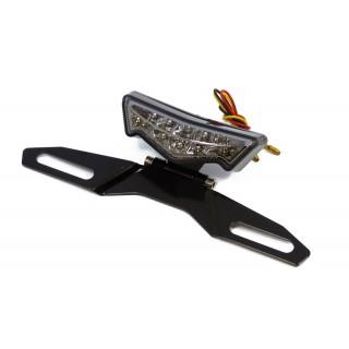 Feu arrière à LED Angus noir Mad avec support de plaque