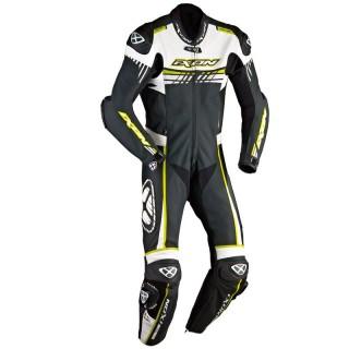 Combinaison moto cuir ixon mirage noir/blanc/jaune