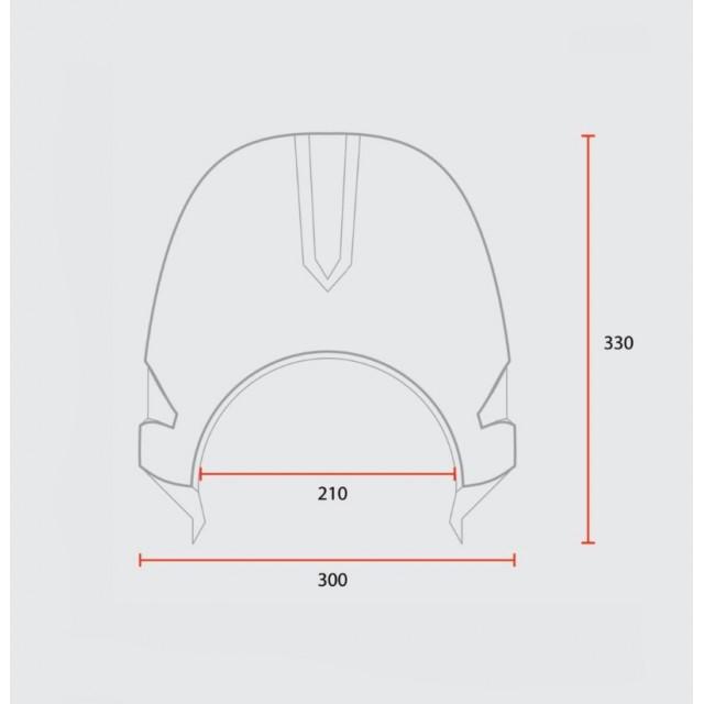 Saute vent 70' universal mask Mad schema