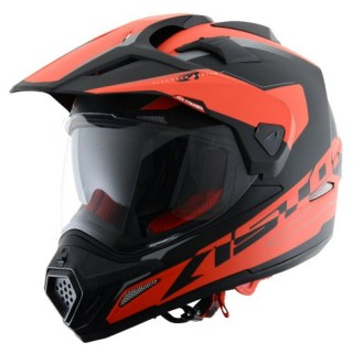 casque moto astone crosstourer adventure noir et orange