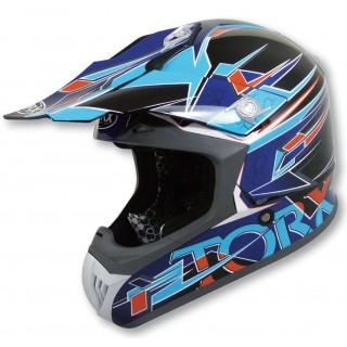 casque moto cross torx marvin 2 bleu et noir
