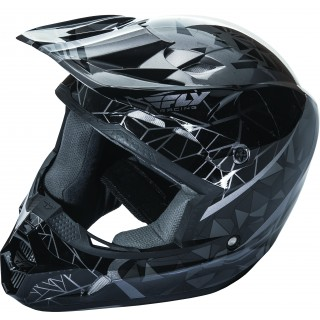 casque moto cross Fly racing crux noir