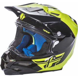 casque moto cross fly racing fly f2 carbon pure jaune et noir