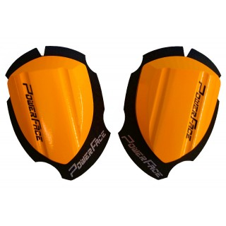 sliders en bois power face special piste orange