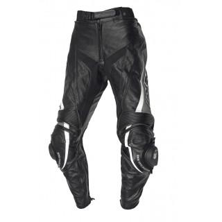 pantalon cuir moto ixs robin II noir et blanc