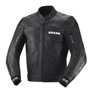 Blouson moto cuir ixs shertan noir