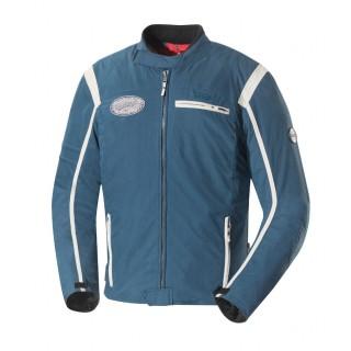 Blouson moto textile ixs ridley bleu