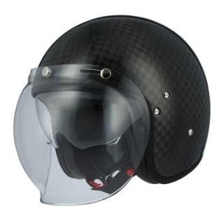 casque moto jet astone vintage carbone 12k