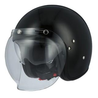 casque moto jet astone vintage noir brillant