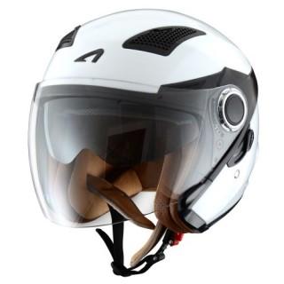 casque moto jet astone fj 10 monocolor blanc