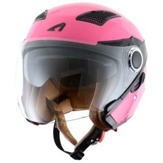 casque moto jet astone fj 10 monocolor rose