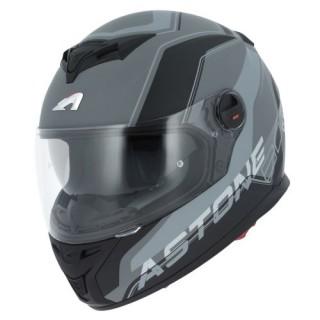 casque moto integral astone gt 800 wire noir et gris