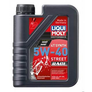 Huile moto 100% synthèse 4 temps liqui moly street race 5w40