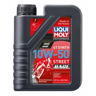Huile moto 100% synthèse 4 temps liqui moly street race 10w50