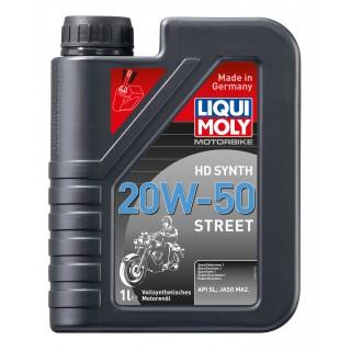 Huile moto Liqui Moly 4 temps 100% synthèse 20W50 spécial Harley davidson
