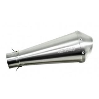 silencieux universel megaphone spark en inox brossé ou poli