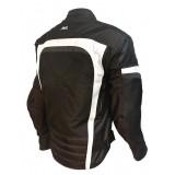 blouson moto textile femme mitsou melt 3 noir/blanc