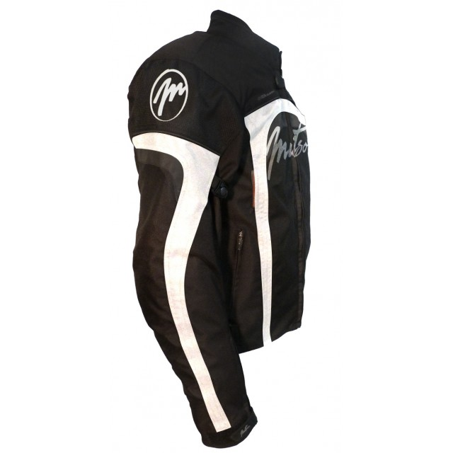 blouson textile moto mitsou melt 3 noir et blanc