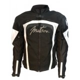 blouson moto textile femme mitsou melt 3 noir et blanc