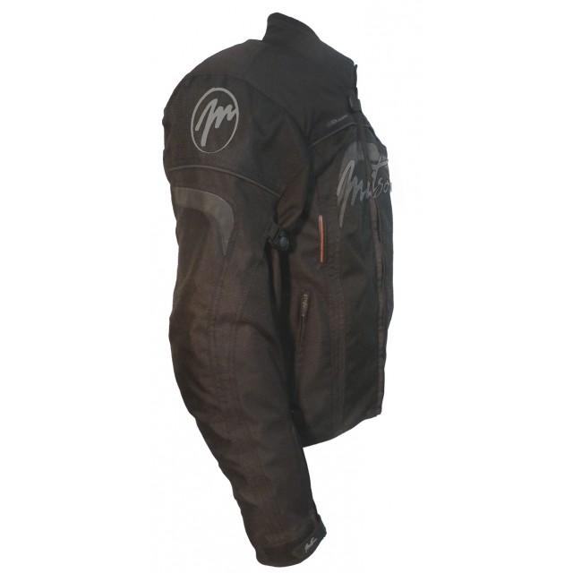 blouson textile moto femme mitsou melt 3 noir et gris