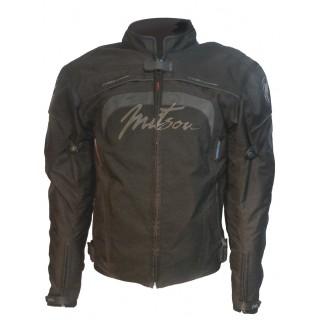 blouson moto textile femme mitsou melt 3 noir et gris