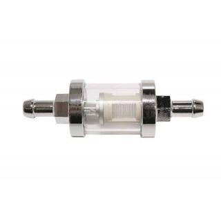 filtre à essence chromé en métal Ø 8 mm