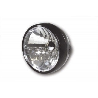 phare moto vintage rond nose noir