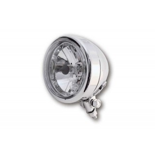 phare moto rond bullet chrome