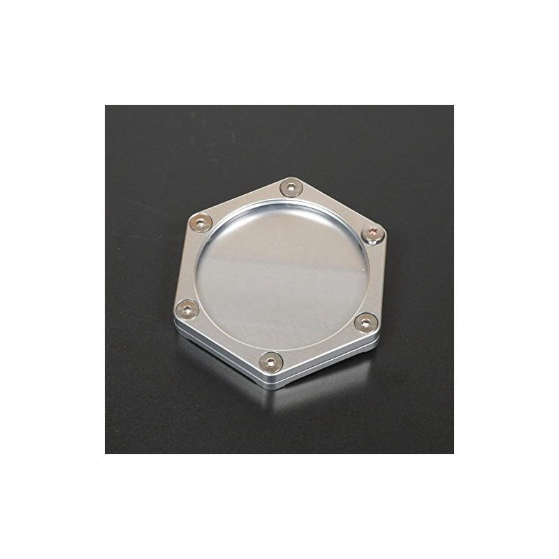 Support de vignette moto Mad alu hexagonal silver