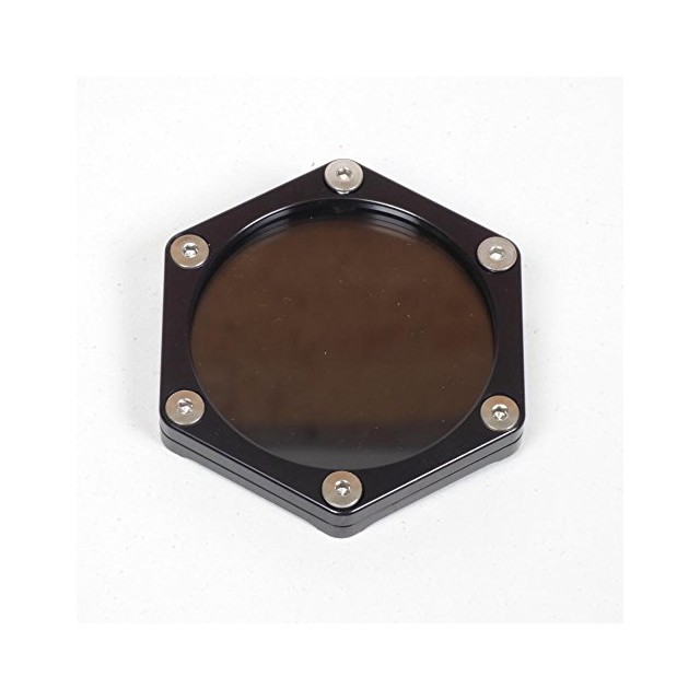 Support de vignette moto Mad alu hexagonal noir