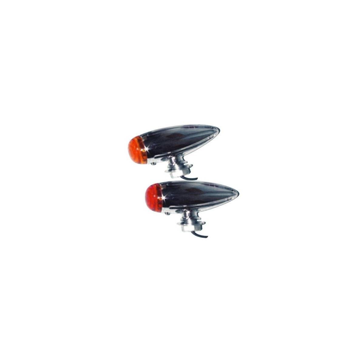 clignotants moto mad bullet chrome orange