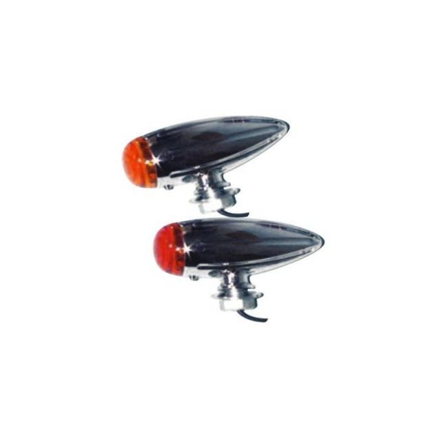 clignotants moto mad bullet chrome rouge