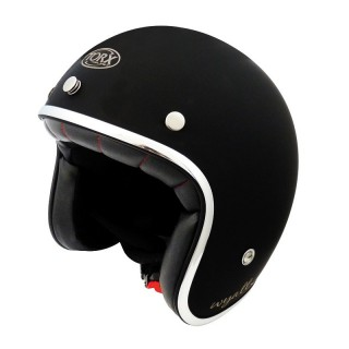Casque moto torx wyatt noir brillant