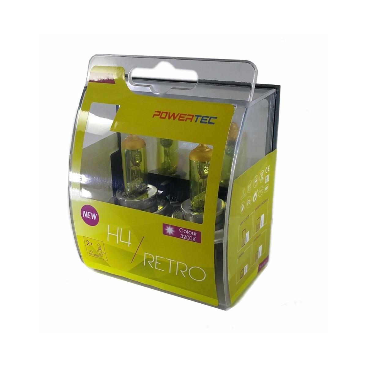 ampoule de phare moto jaune vintage h4 moto. Black Bedroom Furniture Sets. Home Design Ideas