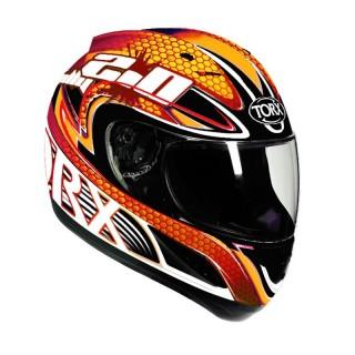 casque moto integral torx bill orange