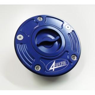 bouchon de réservoir moto racing rapide bleu